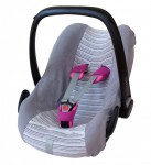 ByBoom® - Universal Sommerbezug, Schonbezug aus Frottee mit Streifen für Babyschale, Autositz, z.B. Maxi Cosi Cabrio Fix, City, Pebble; Designed in Germany, MADE IN EU